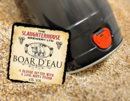 Boar D'eau bitter from Slaughterhouse Brewery Warwick