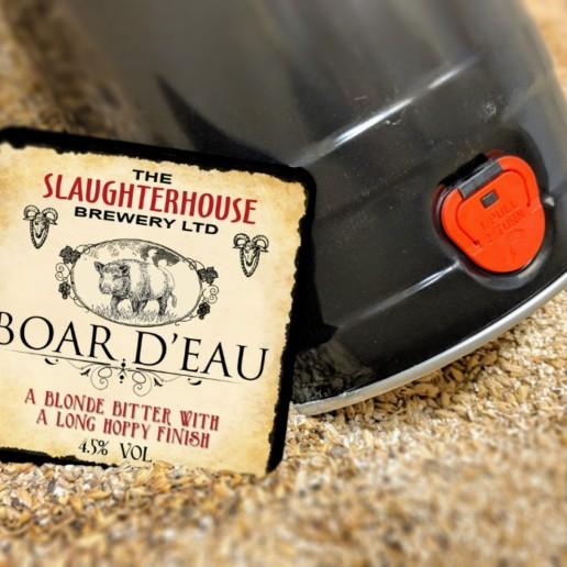 Boar D'eau bitter from Slaughterhouse Brewery Warwick